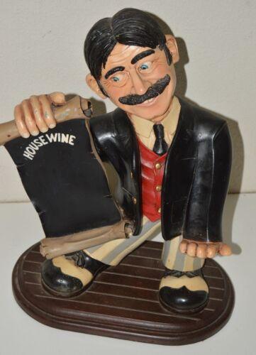 Nice Vintage Signed PETER MOOK House Wine HOLDER Restaurant Server Statue RARE