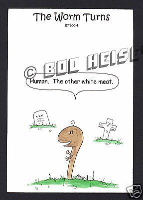 Halloween Willowby Worm Cartoon Art