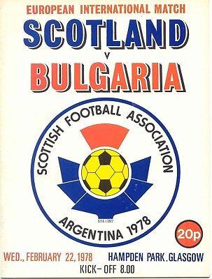1978 Scotland v Bulgaria