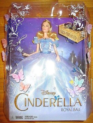 "Disney Cinderella Royal Ball Doll 12"" Barbie New 2015 Live Action Movie"