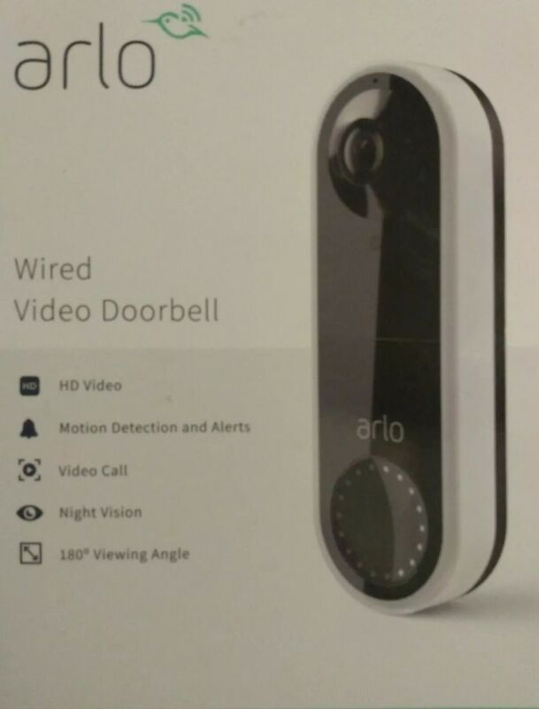 Arlo Wired Video Doorbell AVD1001W-100NAS New