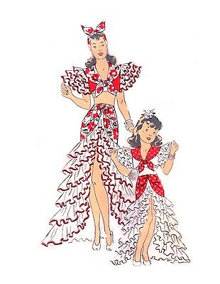 166 RUMBA COSTUME PATTERN FOR FASHION DOLLS - Doll Costumes For Adults