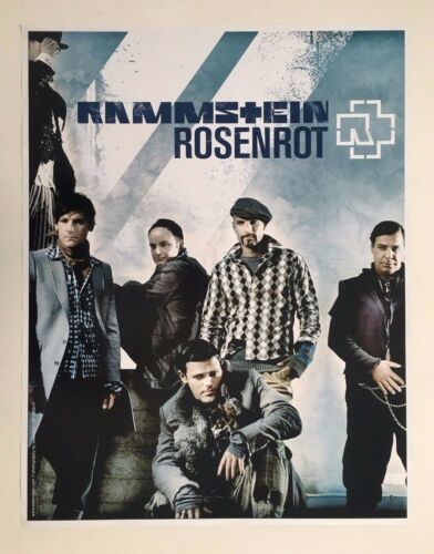 RAMMSTEIN, ROSENROT, PHOTO BY KASSKARA, RARE AUTHENTIC 2006  POSTER