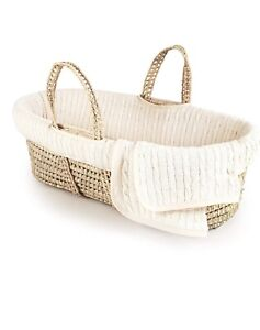 Bassinet & Rocker Stand - Moses Cable Knit Basket with Blanket