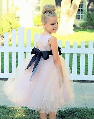Communion Flowers (Blush Pink Flower Girl Dress Tulle Dress Toddler Dresses Wedding Dress)