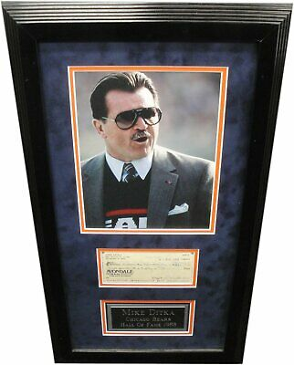 - Mike Ditka Hand Signed Autographed Personal Check Framed w/ 8x10 Photo w/ COA