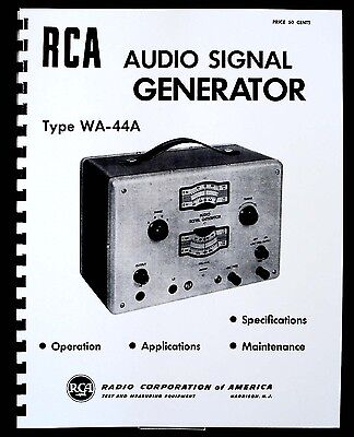 rca signal generator owner 39 s guide to business and. Black Bedroom Furniture Sets. Home Design Ideas