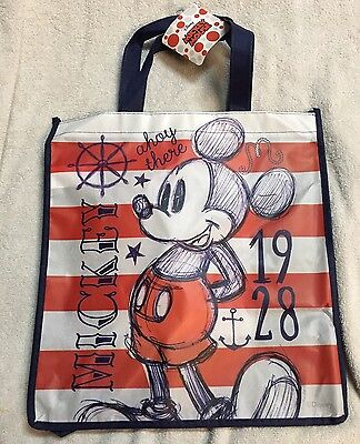 Disney Classic Mickey Mouse Halloween Candy Bag - Reusable Grocery USA Sailor