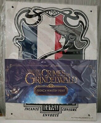 NEW Harry Potter Loot Crate French Ministry Tin Sign