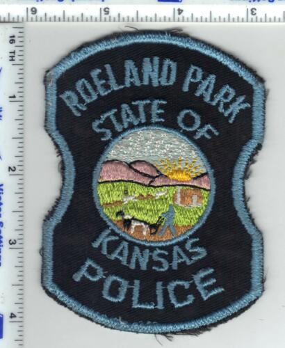 Roeland Park Police (Kansas) uniform take-off patch from the 1980