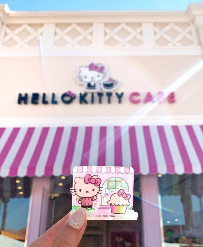 New Hello Kitty Grand Cafe Exclusive Limited Acrylic Stand 3D Scenery Set