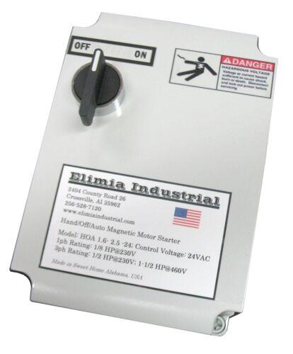 Elimia Magnetic Switch Controller, Nema 4X Enclosure, 50 Amp 230V 1 or 3 Phase