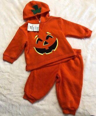 Pumpkin 2 Piece Hooded Halloween Costume Toddler Baby Infant SZ: 12 M~NEW~ - Pumpkin Infant Costume