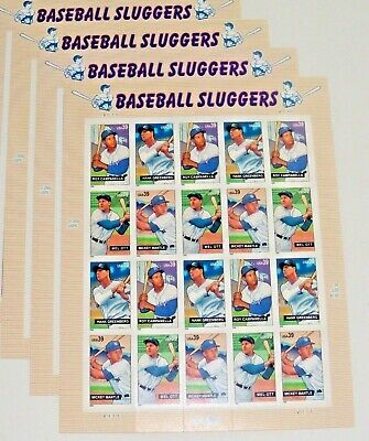 Four Sheets (Four Sheets x 20 = 80 BASEBALL SLUGGERS 39¢ US PS Postage Stamps. Sc # 4080-4083 )