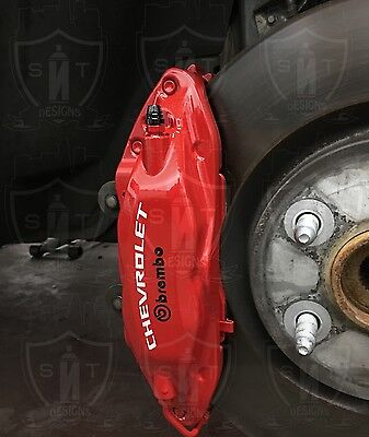 CHEVROLET Camaro SS Brake Caliper High Temp. Vinyl Decals (Any Color)