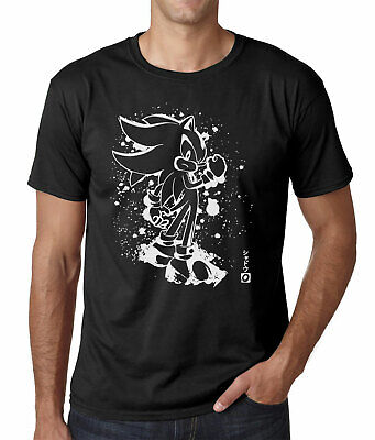 Sonic The Hedgehog Mens T-Shirt Shadow Ink Effect Adult Sizes