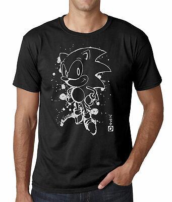 Sonic The Hedgehog T-Shirt Sonic Japan Ink Effect Adults Shirt