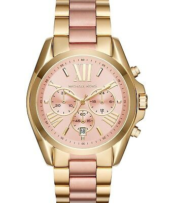 Michael Kors MK6359 Chronograph Two-Tone Stainless Steel Bracelet Watch (Two Tone Steel Bracelet)