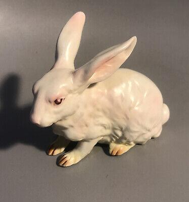 Vintage Homco Rabbit on a tree...Figurine... 1960