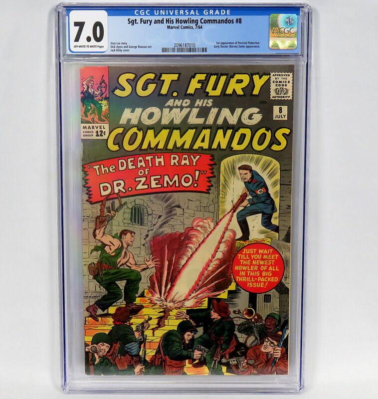 Marvel Comics Sgt Fury & His Howling Commandos #8 CGC 7.0 1st App Pinkerton 1964