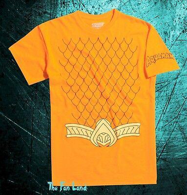 New DC Comics Aquaman Cosplay Vintage Classic Mens T-Shirt](Dc Comics Cosplay)