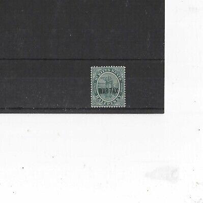 ST KITTS NEVIS , 1916, SG22 TYPE 1 1/2d DEEP BLUE-GREEN, MH