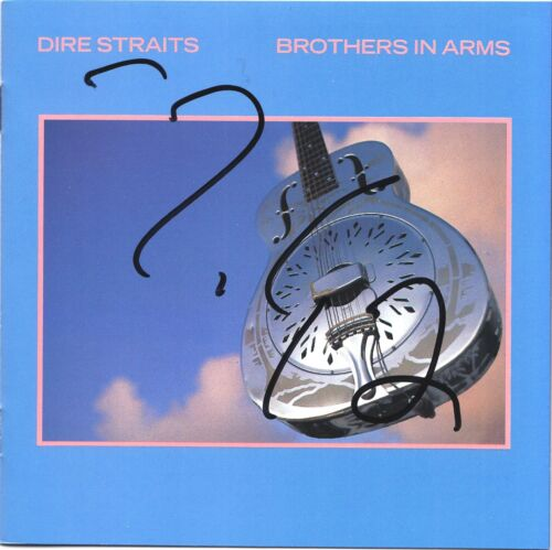DIRE STRAITS MARK KNOPFLER RARE IN PERSON SIGNED WITH PROOF COA