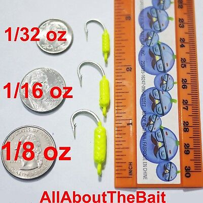 50 pack - MIXED - Chartreuse - Yellowtail Snapper Jigs - Mustad Saltwater Hook