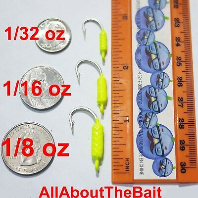 - 50 pack - MIXED - Chartreuse - Yellowtail Snapper Jigs - Mustad Saltwater Hook