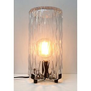 NEW Rustic Industrial Glass Light Table Lamp with Metal Base. Exc Cond North Melbourne Melbourne City Preview