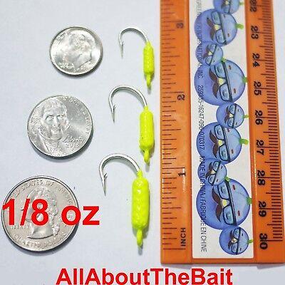 ***BLEM SALE*** 50 pack - 1/8 oz - Chartreuse - Yellowtail Snapper Jigs