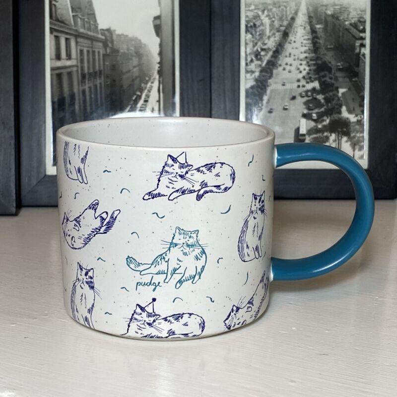 WEST ELM 2018 ASPCA Cats Coffee Mug Pudge The Cat - 2 Available - 16 Ounce  EUC