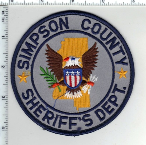 Simpson County Sheriff (Mississippi) Shoulder Patch  from the 1980