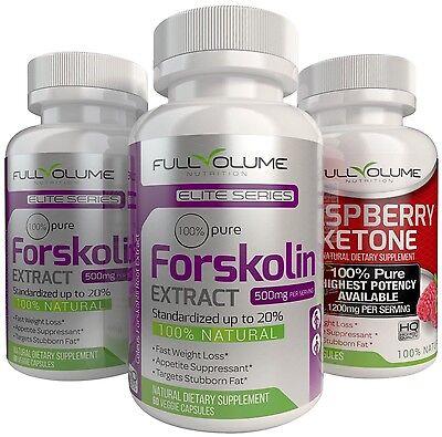 Raspberry Ketone   2X Forskolin   Best Diet Pills Weight Loss Fat Burner