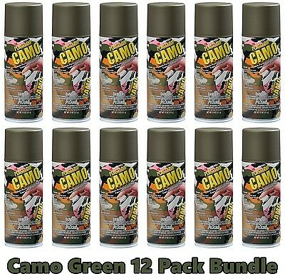 Performix 11217 Plasti Dip Camo Green 12 Pack Rubber Coating Spray Aerosol Cans