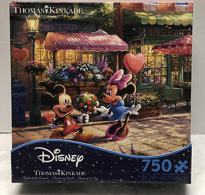 Thomas Kinkade Disney Puzzle - Mickey And Minnie Sweetheart Cafe, 750 Pc Ceaco