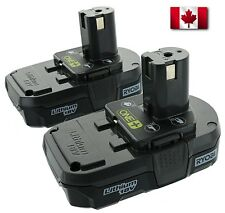Ryobi (2 Pack) P102 One+ Lithium Ion 18 Volt Compact Batteries