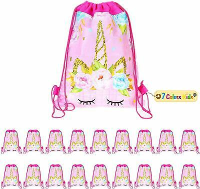 Party Bags For Kids (Unicorn Party Bags-Drawstring Party Favor Candy Cookie Bags for Kids Birth)