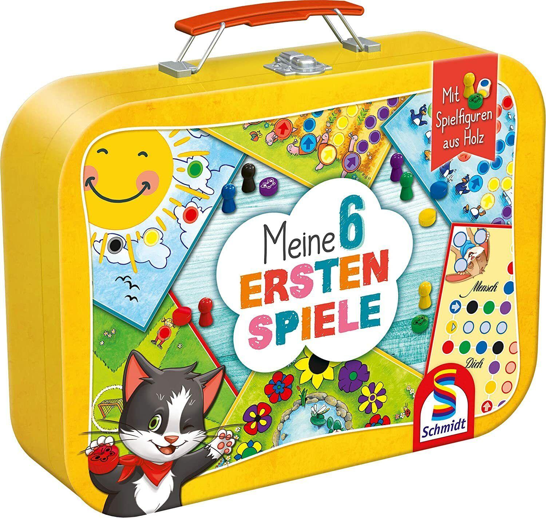 Kinder Spielesammlung Meine 6 ersten Spiele im Metallkoffer Schmidt Spiele Neu