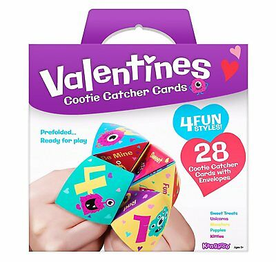 Valentines Day Cards For Kids Cootie Catcher Valentines 28 Count