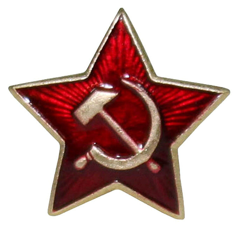 Soviet USSR Russian Army Military Red Star Ushanka Hat Cap Beret Metal Badge