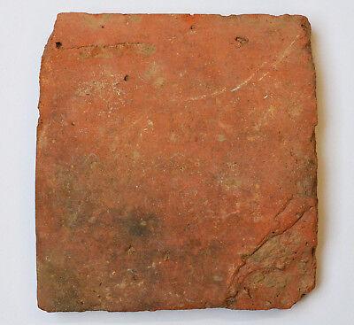 Original römische Hypokaustenplatte 3./4.Jh.Terrakotta 18x18cm Herkunftsnachweis ()