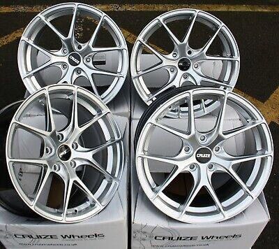 """18"""" Silver Gto Alloy wheels Fits Bmw 3 Series e46 e90 e91 e92 e93 f30"""