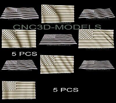 3d Model Stl For Cnc Router Carving Artcam Aspire Usa Flag America Pano D287