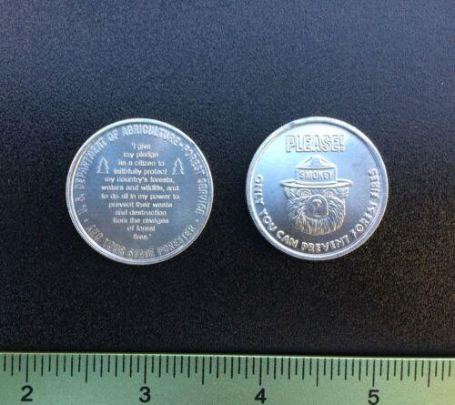 VINTAGE Smokey Bear fire USFS FOREST SERVICE token coin medallion firefighting