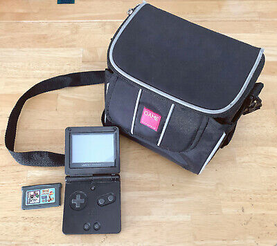 NINTENDO GAME BOY ADVANCE SP CONSOLE BLACK SYSTEM GAMEBOY GBA TESTED RARE!