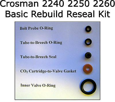 Crosman 2240 2250 2260 Basic Reseal Rebuild O-Ring Seal O-Ring Kit
