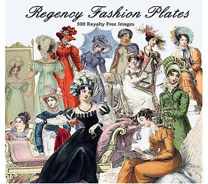Jane-Austen-Regency-Fashion-500-Images-Decoupage-Cards-Tags-Scrapbook-Art-Design