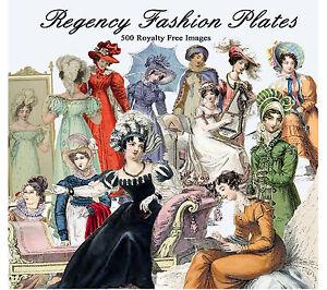 Jane-Austen-Regency-Fashion-500-Images-Art-Decoupage-CD