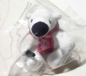 COCA-COLA-Limited-Edition-POLAR-BEAR-PLUSH-TOY-Scarf-SINGAPORE-Chinese-New-Year